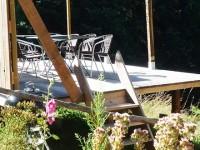 Chambre d'hôtes Le Paradoxe Perdu, terrasse avec barbecue